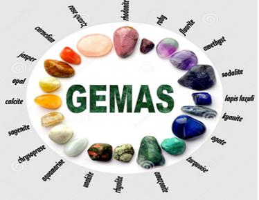 Ilustração de gemas