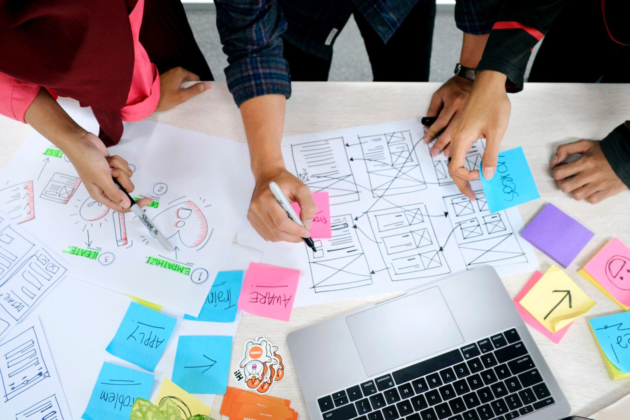 Desenvolvedores E Ux Designers Estudando Metas De Usabilidade
