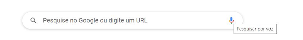 Barra de pesquisa do Google.